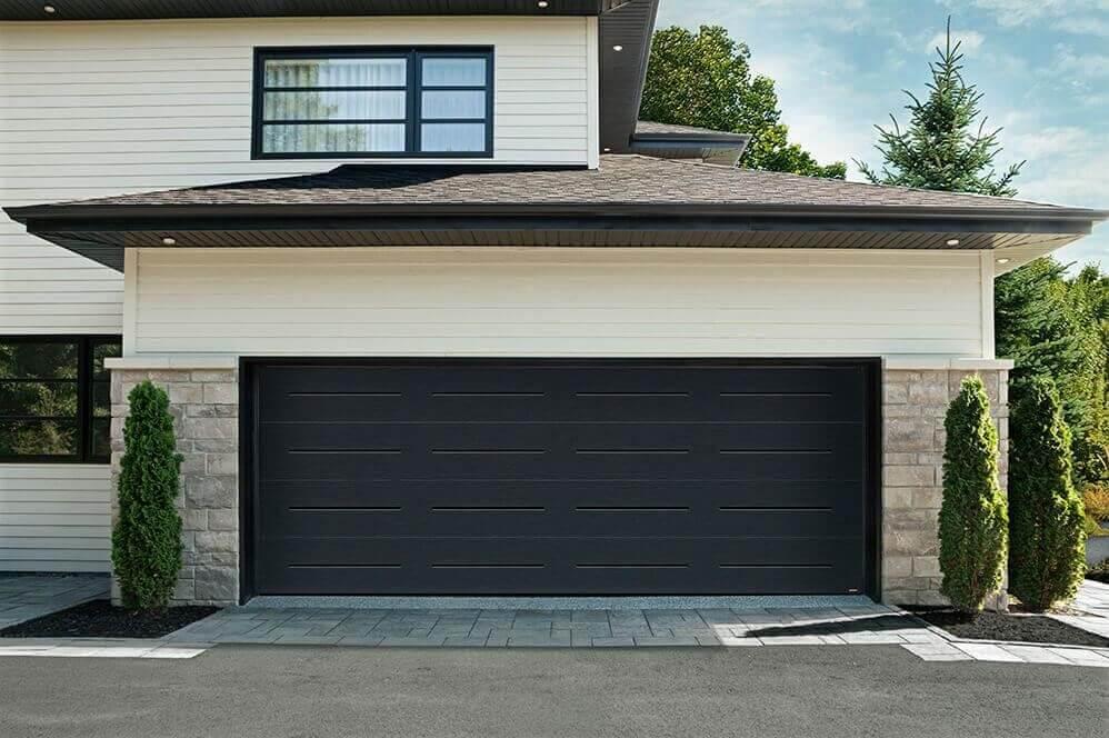 Garage door: Vog Design, 18'x7', Black color