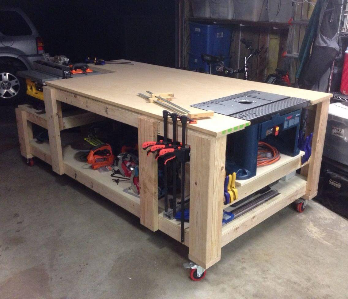 A mobile work bench