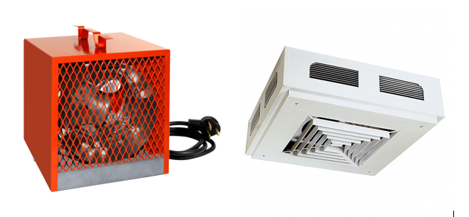 2 types of electric heat sources