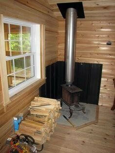 Wood stove garage are great but you have to respect your insurance standards.