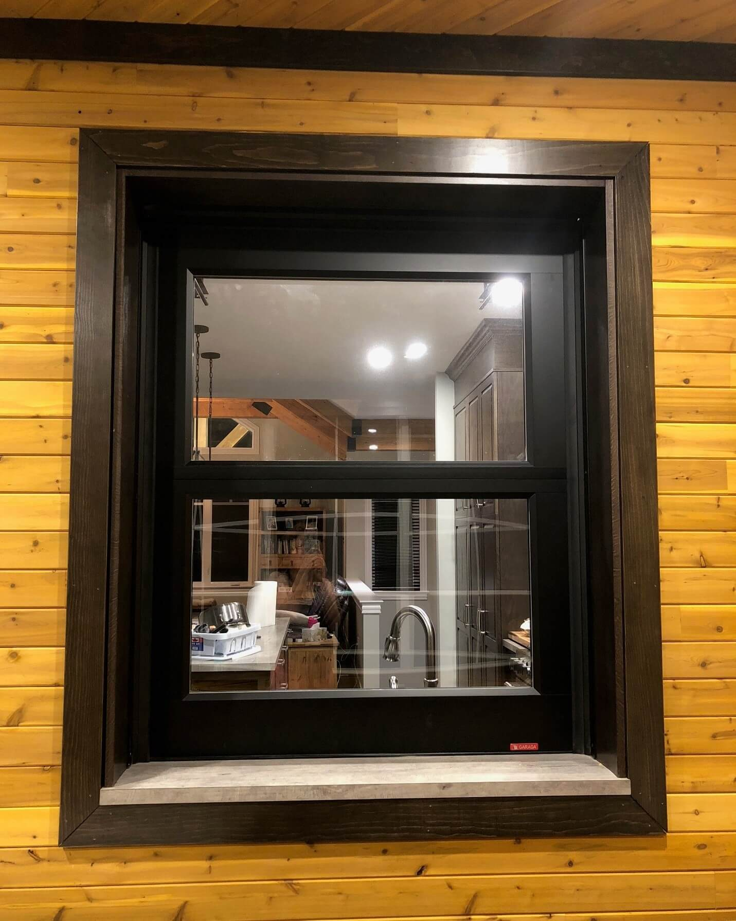 The California garage door: A look from the outside, in the 3-season sunroom