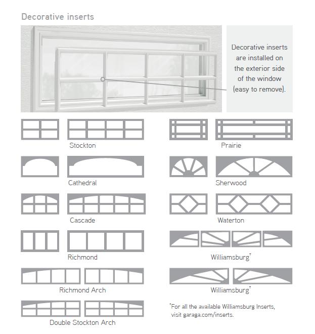 Decorative inserts windows