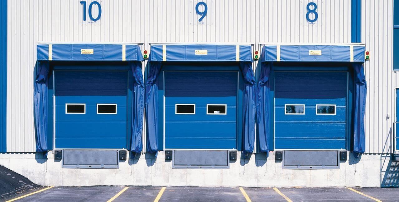 Modèle de portes commerciales: G-1000, 8' x 8', Bleu héron