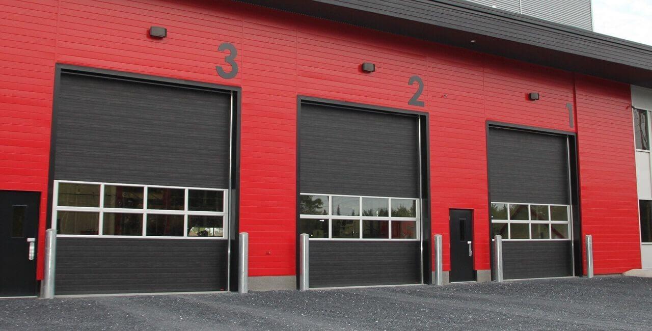 Modèle de portes commerciales: G-5000, 14' x 16', Noir