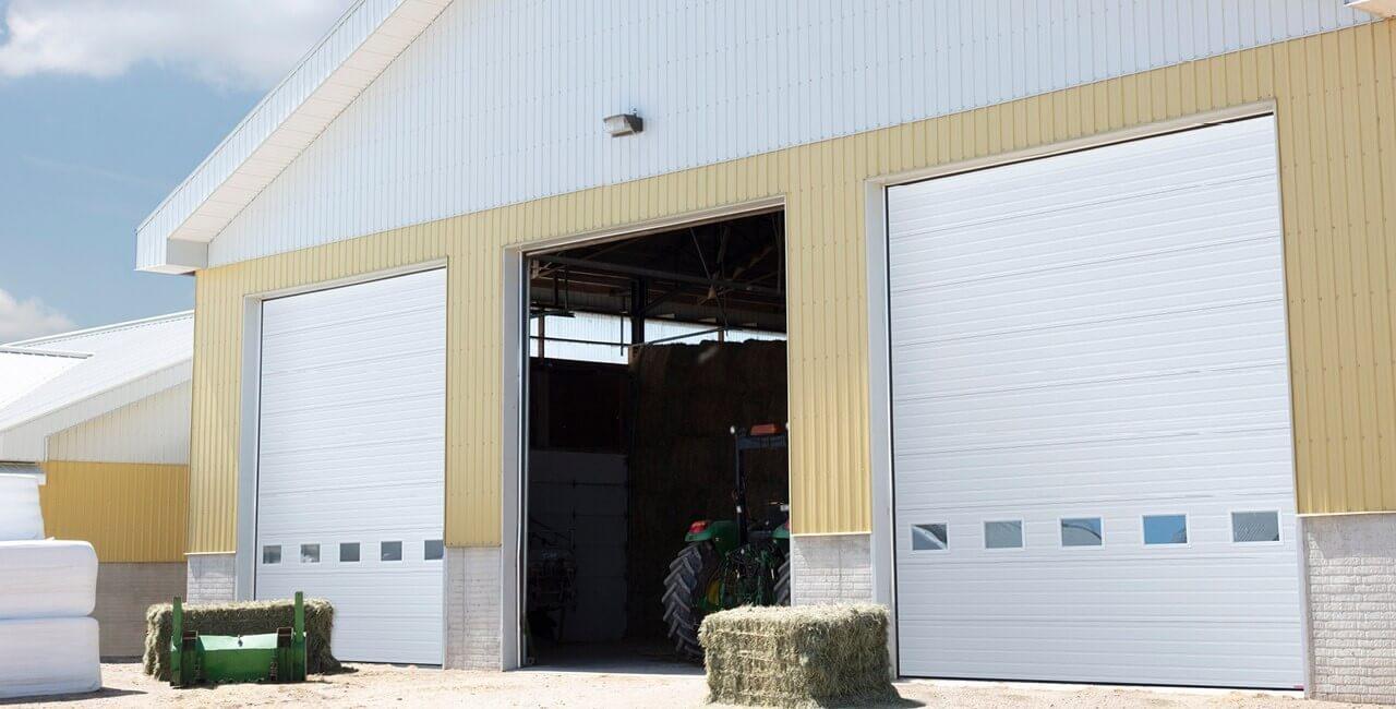 Modèle de portes commerciales: G-5000, 16' x 18', Blanc glacier