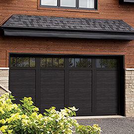 Eastman E-11, 16' x 8', porte et moulures Noir, fenêtres Panoramique 4 rectangles