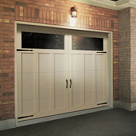Eastman E-13, 8' x 7', Desert Sand doors and overlays, Panoramic Clear windows