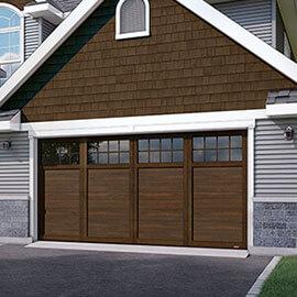 Princeton P-11, 16' x 8', porte et moulures Noyer chocolaté, fenêtres Panoramique 8 carreaux