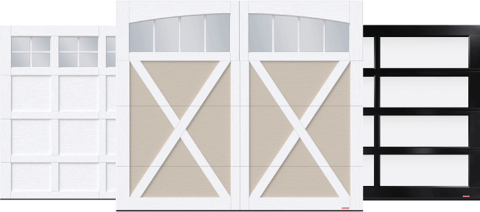 Cambridge garage door, Eastman garage door and California garage door by Garaga
