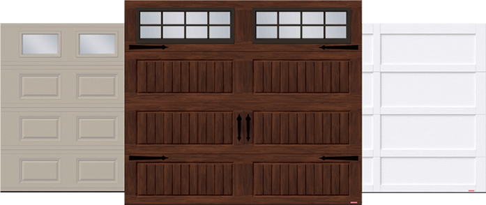 Standard+ Classic CC, Standard+ North Hatley LP and Cambridge CL garage doors