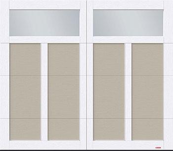 Eastman E-12, 8' x 7', porte Argile et moulures Blanc glacier, fenêtres Clair