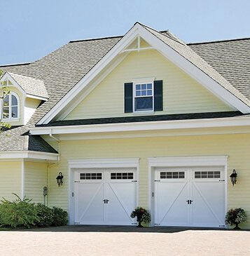 House with Eastman E-22 garage doors