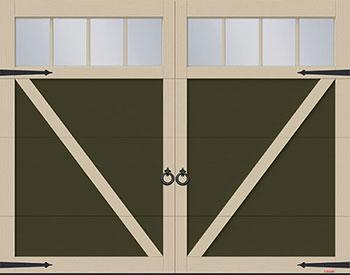 Eastman E-23, 9' x 7', porte Sablon et moulures Argile, fenêtres Panoramique 4 rectangles