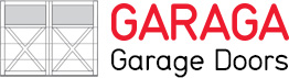 Garaga garage door logo with door