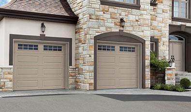Portes de garage Chambly - Cambridge CL, 9' x 8', portes et moulures Noir