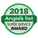 Angies List - Super Service Award - 2018