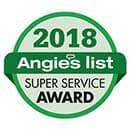 Angies List - Super Service Award - 2018