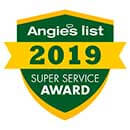 Angies List - Super Service Award - 2019