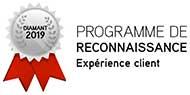Médaillon Diamant - Programme de reconnaissance - Expérience client