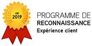 Médaillon Or - Programme de reconnaissance - Expérience client