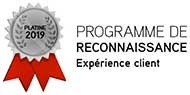 Médaillon Platine - Programme de reconnaissance - Expérience client