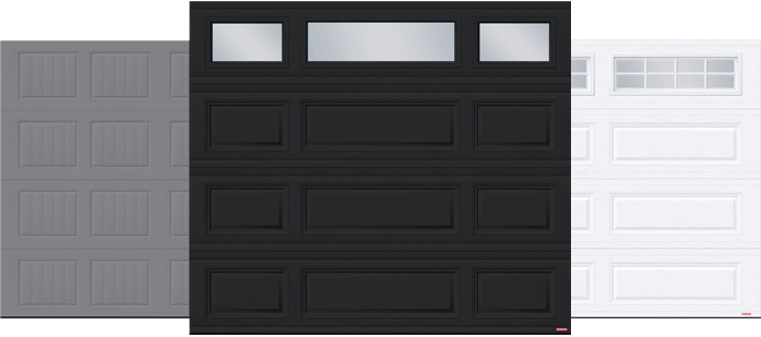 Standard+ North Hatley SP, Standard+ Classic MIX and Standard+ Classic XL garage doors by Garaga