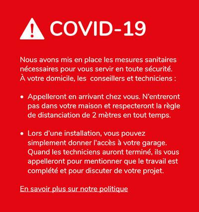 En savoir plus sur notre politique COVID-19