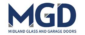 Midland Glass and Garage Doors logo