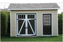 Storage shed doors