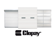 Commercial garage doors offered by Clopay